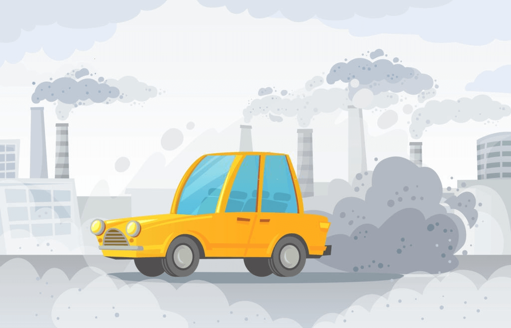 ilustrasi asap kendaraan di jalanan ibukota