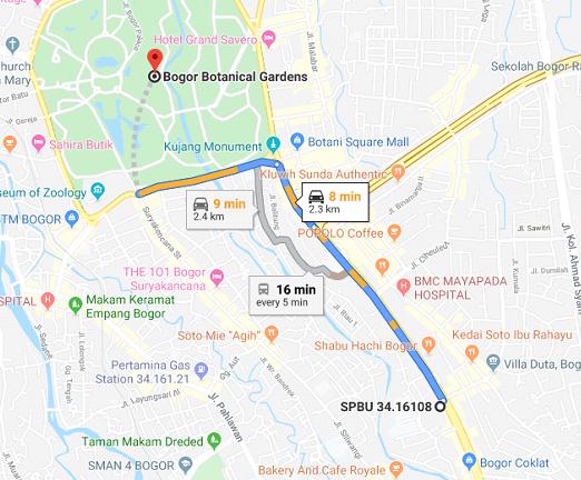 spbu terdekat pertama di Kebun Raya Bogor