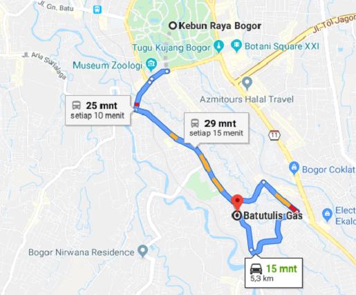 spbu terdekat kelima dari Bogor