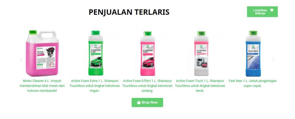 Produk Grass Active Foam Series dari Grass Indonesia